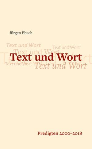 Cover Buch Text und Wort von Jürgen Ebach